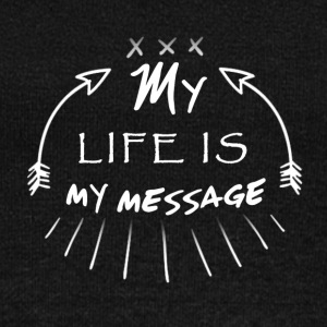 My life is my message  Typography - Women's Wideneck Sweatshirt