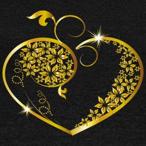 valentines day-flowers-heart-jewelry-gold - Women's Wideneck Sweatshirt