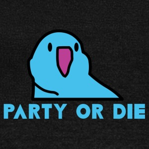 PARTY OR DIE - Blue Party Parrot - Women's Wideneck Sweatshirt