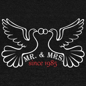 Mr And Mrs Since 1985 Married Marriage Engagement - Women's Wideneck Sweatshirt