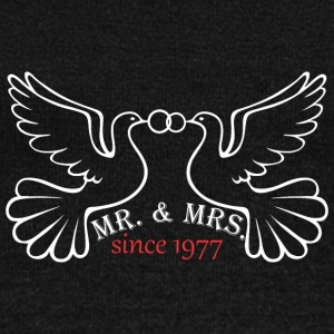 Mr And Mrs Since 1977 Married Marriage Engagement - Women's Wideneck Sweatshirt