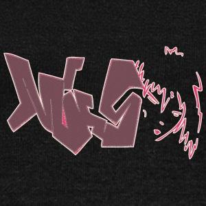 miss_graffiti_dark_red - Women's Wideneck Sweatshirt