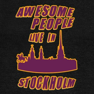 STOCKHOLM Awesome people live in - Women's Wideneck Sweatshirt
