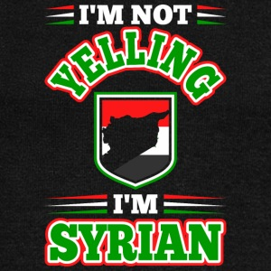 Im Not Yelling Im Syrian - Women's Wideneck Sweatshirt