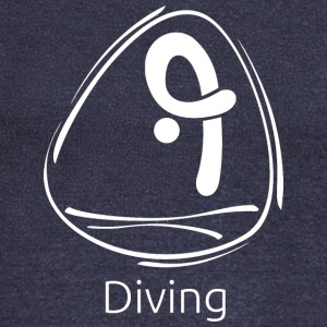 Diving_white - Women's Wideneck Sweatshirt
