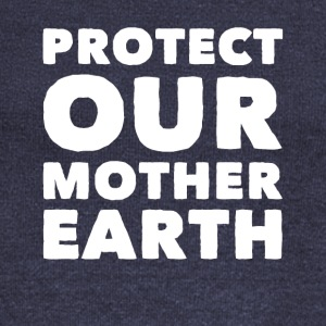 Global warming protect our mother earth - Women's Wideneck Sweatshirt
