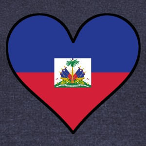 Haitian Flag Heart - Women's Wideneck Sweatshirt