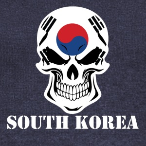 Korean Flag Skull South Korea - Women's Wideneck Sweatshirt