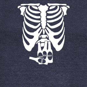 Beer Belly Xray Skeleton Funny - Women's Wideneck Sweatshirt