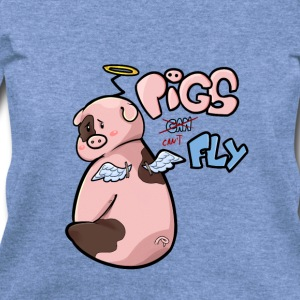 Pigs can't Fly - Women's Wideneck Sweatshirt