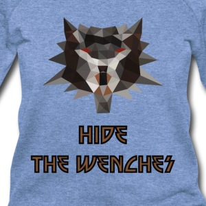 Witcher low poly hide the wenches - Women's Wideneck Sweatshirt