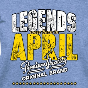 Legends Were Born In April - Women's Wideneck Sweatshirt
