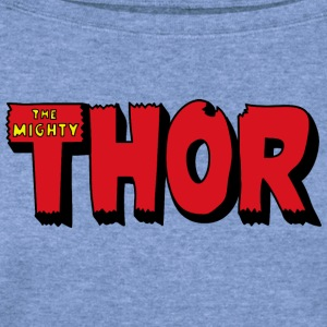 The Mighty Thor Logo (Colored) - Women's Wideneck Sweatshirt