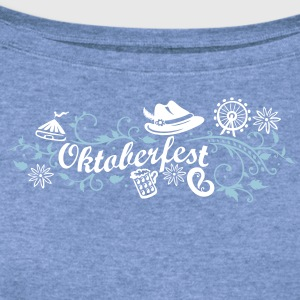 Oktoberfest decoration with traditional elements - Women's Wideneck Sweatshirt