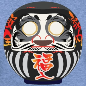 Daruma, a symbol of perseverance and good luck - Women's Wideneck Sweatshirt