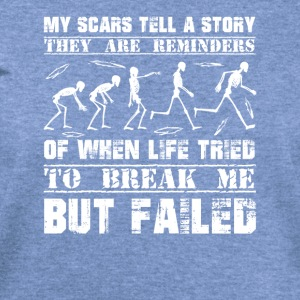 My Scars Tell A Story T-Shirt - Women's Wideneck Sweatshirt
