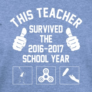 This Teacher Survived The 2016 2017 School Year - Women's Wideneck Sweatshirt