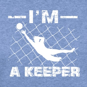 I'm a Keeper – Soccer Goalkeeper designs - Women's Wideneck Sweatshirt