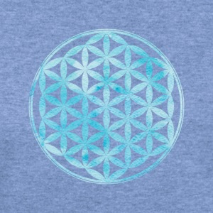 Flower of Life - Sacred Geometry - Women's Wideneck Sweatshirt