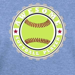 Symbol of an Awesome Softball Player - Women's Wideneck Sweatshirt