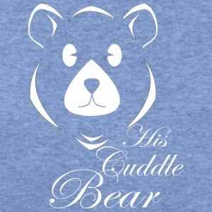 His Cuddle Bear - Women's Wideneck Sweatshirt