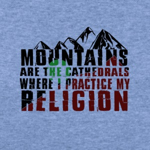 mountains are cathedrals T-shirt design - Women's Wideneck Sweatshirt