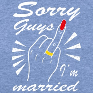 Sorry guys I'm married - Women's Wideneck Sweatshirt