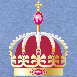 gold Royal crown decorated with precious stones - Women's Wideneck Sweatshirt