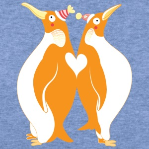 penguin love - Women's Wideneck Sweatshirt