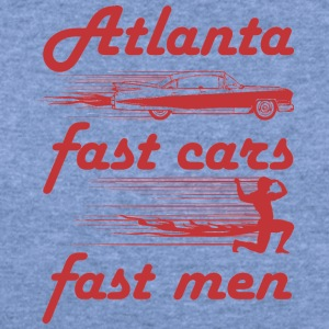 atlanta fast cars fast men - Women's Wideneck Sweatshirt