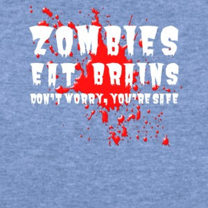 Zombies eat brains - Women's Wideneck Sweatshirt