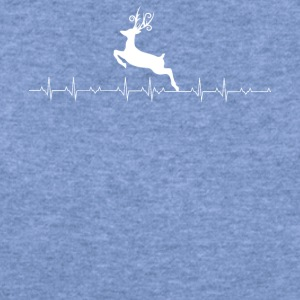 Deer Hunting heartbeat Lover - Women's Wideneck Sweatshirt