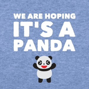 we are hoping it's a panda - Women's Wideneck Sweatshirt