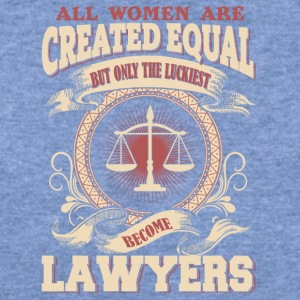 The Luckiest Women Become Lawyers - Women's Wideneck Sweatshirt