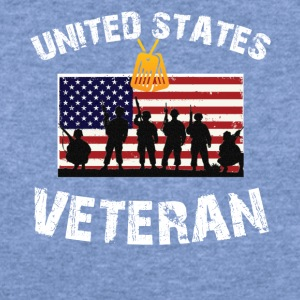 United States Veteran T-Shirt - Women's Wideneck Sweatshirt