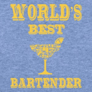 WORLD'S BEST COCKTAIL BARTENDER - Women's Wideneck Sweatshirt