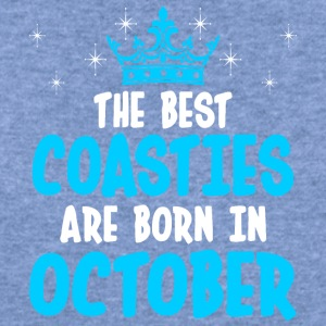 The Best Coasties Are Born In October - Women's Wideneck Sweatshirt