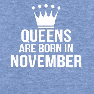 queens are born in november - Women's Wideneck Sweatshirt