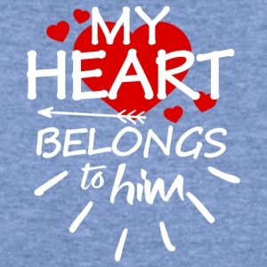 My heart belongs to him - Women's Wideneck Sweatshirt