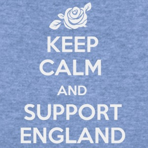 Keep Calm and support England - Women's Wideneck Sweatshirt