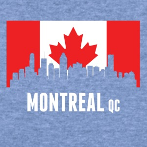 Canadian Flag Montreal Skyline - Women's Wideneck Sweatshirt