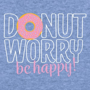 Donut worry be happy - Women's Wideneck Sweatshirt