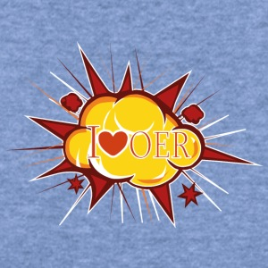 I love OER Cloud - Women's Wideneck Sweatshirt