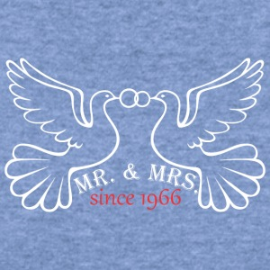 Mr And Mrs Since 1966 Married Marriage Engagement - Women's Wideneck Sweatshirt