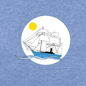 Morning tall ship - Women's Wideneck Sweatshirt