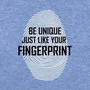 BE UNIQUE JUST LIKE YOUR FINGERPRINT - Women's Wideneck Sweatshirt