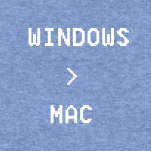 Windows is greater than Mac - Women's Wideneck Sweatshirt