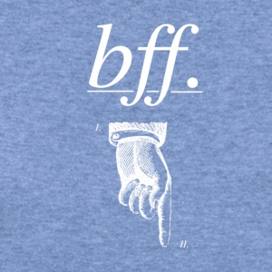 best friends forever BFF - Women's Wideneck Sweatshirt