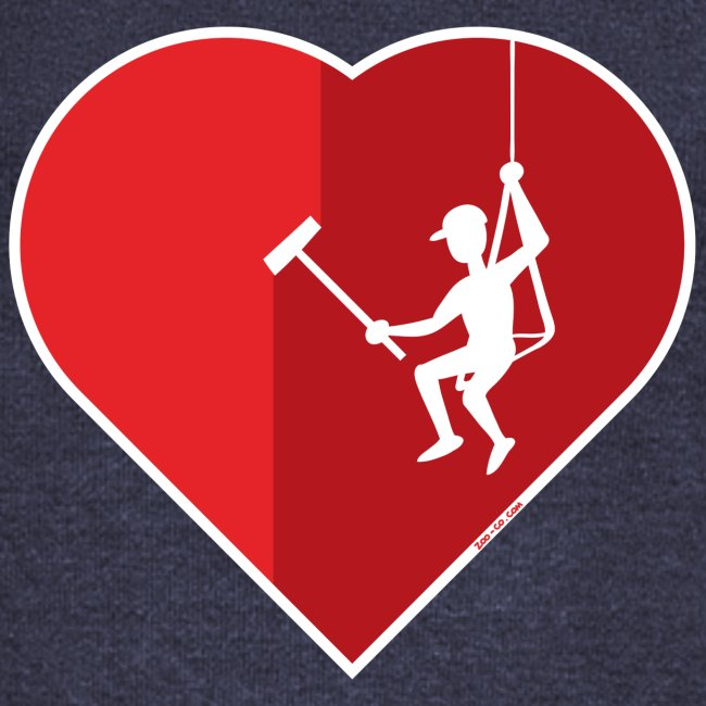 Heart cleaning by a professional window cleaner