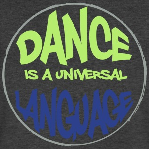 Dance is a universal language - Men's V-Neck T-Shirt by Canvas